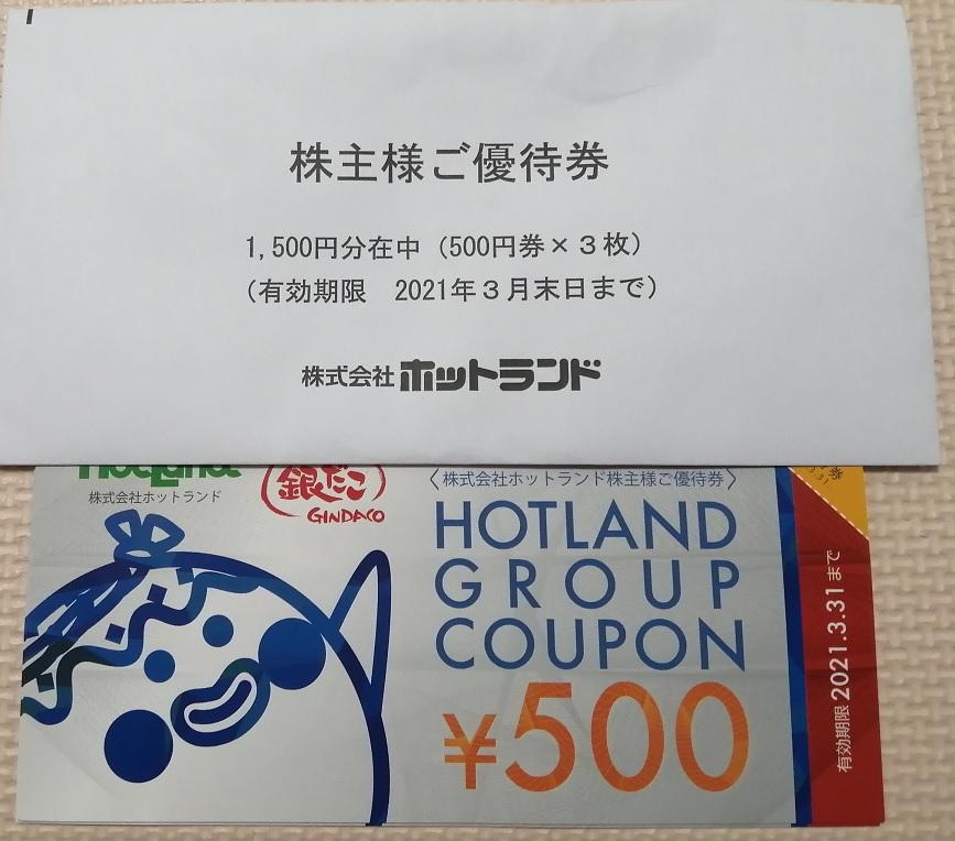 ホットランド株主優待券