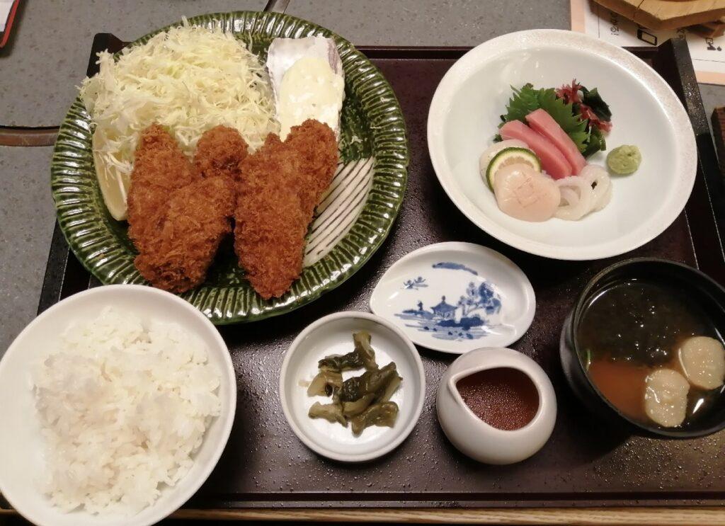 かごの屋 国産牡蠣フライと選べる副菜セット