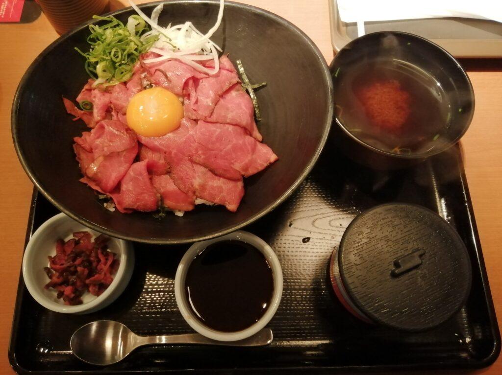 和食さと ローストビーフ丼セット
