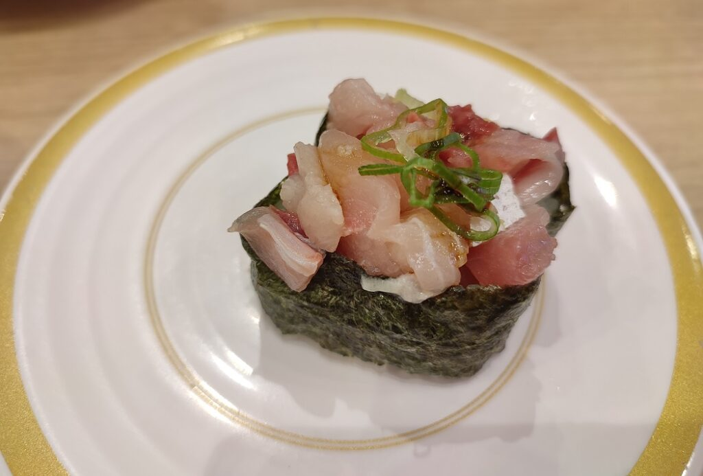 かっぱ寿司の軍艦、寿司屋のたたき
